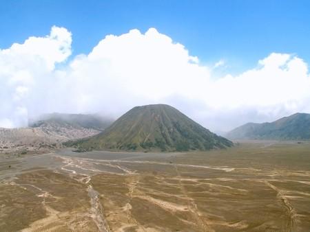tengger: Volcano Batok in the middle of Tengger Caldera, Java, Indonesia