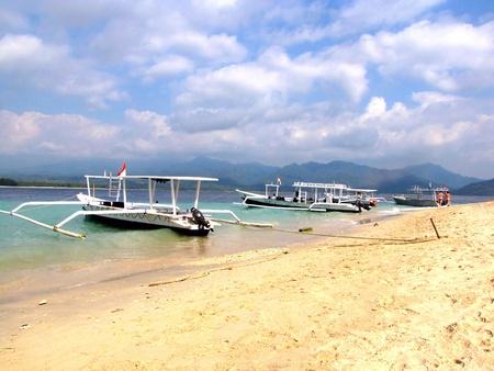Beautiful tropical beach on Gili Air island, Lombok, Indonesia photo