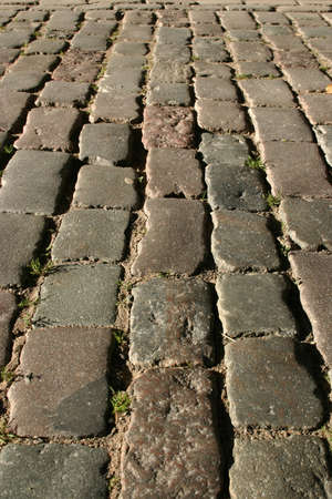 flagging: Medieval stone road in the old city