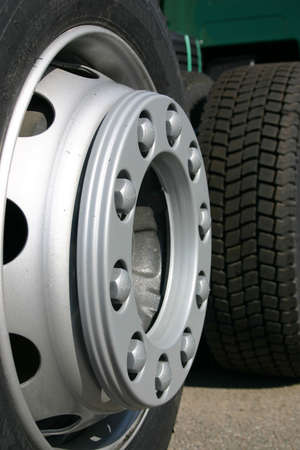 sideview: Truck tires from the sideview