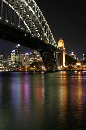 Sydney Harbour Bridge At Night, Australia photo