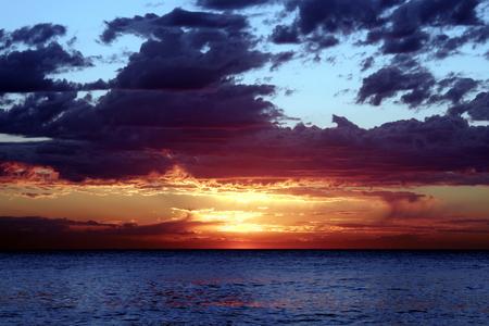 coast line: Red  Pacific Sunrise, Sydney, Australia