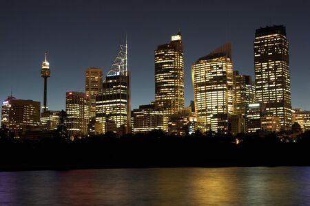 sydney skyline: Sydney By Night
