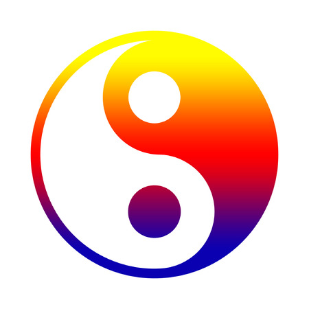 chinese philosophy: Yin And Yang - Chinese Philosophy Concept, Two Primal Opposing But Complementary Principles Stock Photo