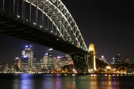 nightime: Sydney Harbour Bridge At Night, Australia