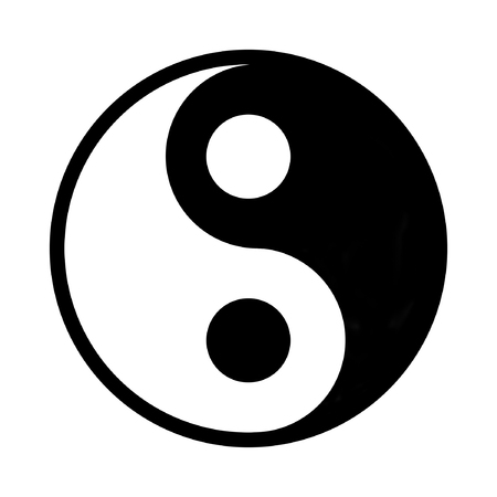 exclude: Yin And Yang - Chinese Philosophy Concept, Two Primal Opposing But Complementary Principles Stock Photo