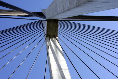 Anzac Bridge, Sydney, Australia: ANZAC Bridge is the longest cable-stayed bridge in Australia, and amongst the longest in the world. Stock Photo - 1537998
