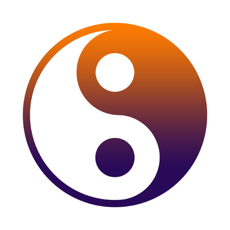 complementary: Yin And Yang - Chinese Philosophy Concept, Two Primal Opposing But Complementary Principles Stock Photo