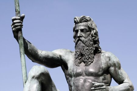 greek gods: Neptune - Part Of Governor Phillip Fountain In Sydney, Royal Botanic Gardens, Australia