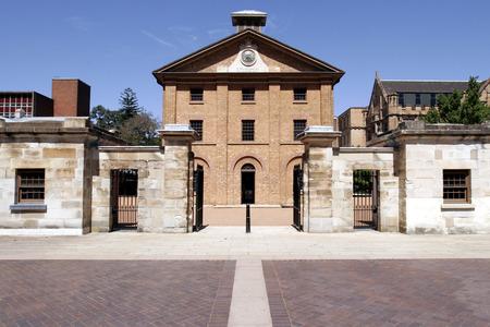 barracks: The Hyde Park Barracks popular colonial landmark in the historic precinct of Sydney, Australia