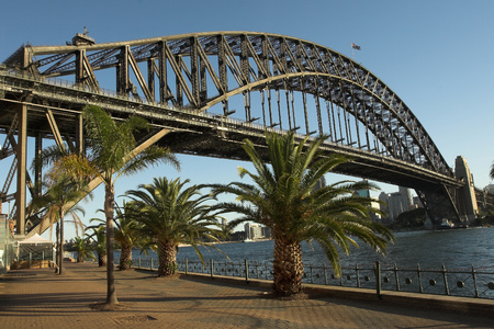 steel bridge: Sydney Harbour Bridge, Australia Stock Photo