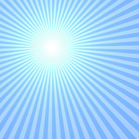 rises: Blue Sun Abstract, Rays Shine From A Bright Center, Illustration Background