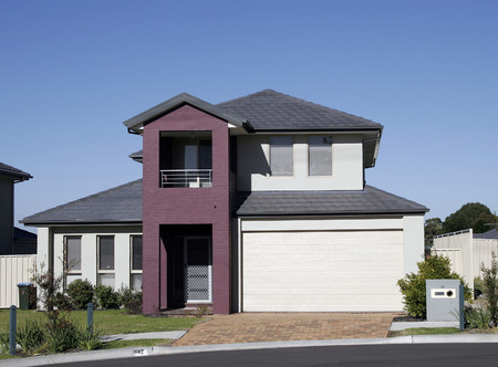 Modern Town House In A Sydney Suburb On A Summer Day, Australia Stock Photo