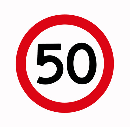limitations: Speed Limit, 50, Fifty, Traffic Sign