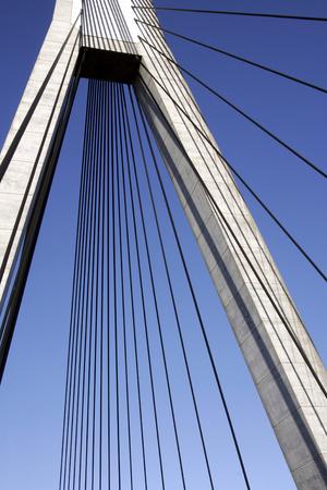 Anzac Bridge, Sydney, Australia: ANZAC Bridge is the longest cable-stayed bridge in Australia, and amongst the longest in the world. Stock Photo - 1694218