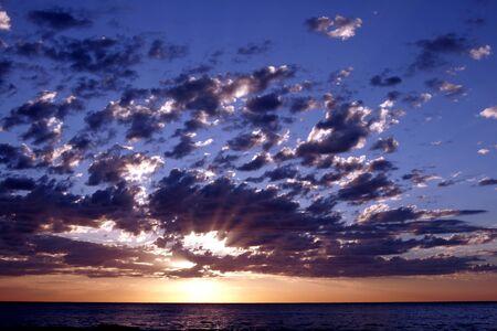 Pacific Sunrise With Dark Clouds, Sydney, Australia Stock Photo - 1694221