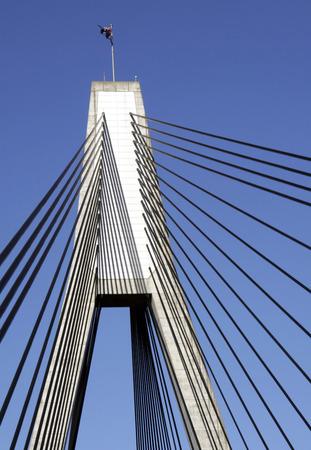 Anzac Bridge, Sydney, Australia: ANZAC Bridge is the longest cable-stayed bridge in Australia, and amongst the longest in the world. Stock Photo - 1694212