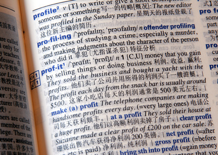 Profit In Chinese, Translation Of Profit Into Chinese Language, Dictionary Page photo