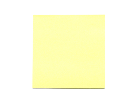 Yellow Simple Plain Blank Post-It Note, Space For Own Text, Background