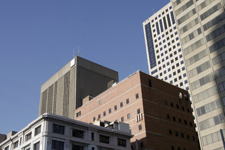 resident: Tall Urban City Building Facade In Sydney, Australia