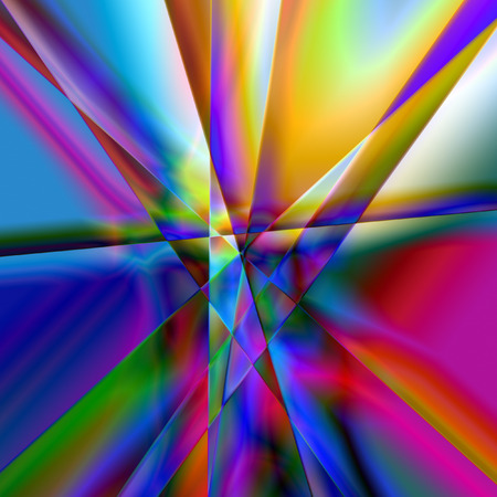 Colourful Psychodelic Prism Abstract With Multiple Colours, Blue, Red, Yellow, Green, Background Graphic