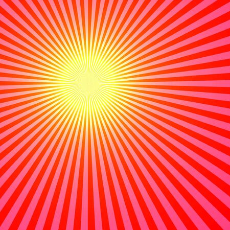 bright center: Red Sun Abstract, Rays Shine From A Bright Center, Illustration Background Stock Photo