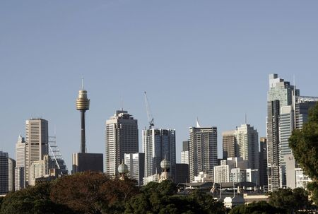 Sydney City Skyline On A Summer Day, Cityscape, Clear Blue Sky, Australia Stock Photo - 1697015