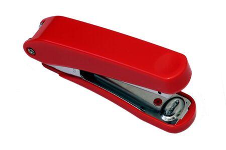 stapler: Stationary, Red Stapler
