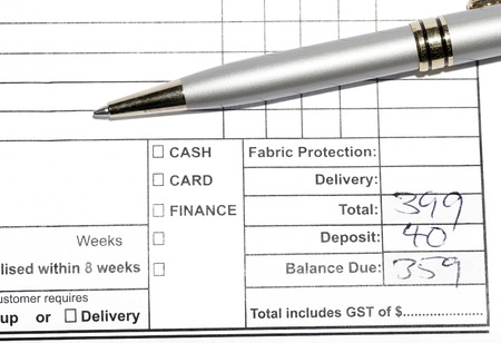 Silver Pen On Invoice Statement, Business Background photo