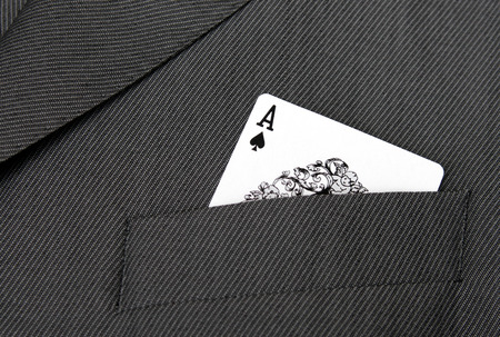 ace of spades: Card Suit - Ace Of Spades Gambling Card In A Suit Jacket Pocket