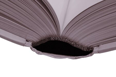 Thick Open Book, Blank Pages On A White Background, Warm Tone Stock Photo - 1728530