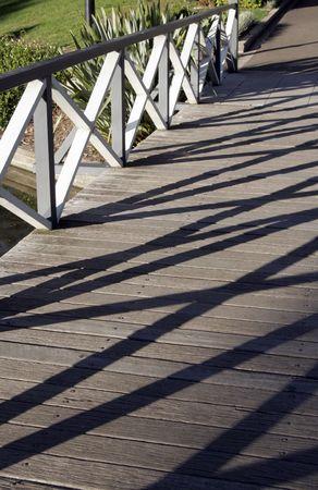 Urban Park Path, Little Wood Bridge In Sydney, Australia photo