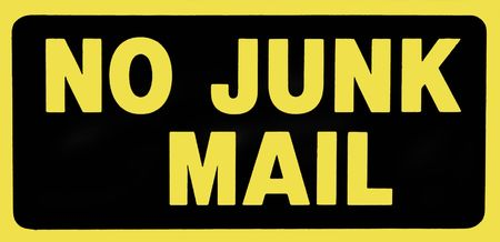 spammer: No Junk Mail Sign