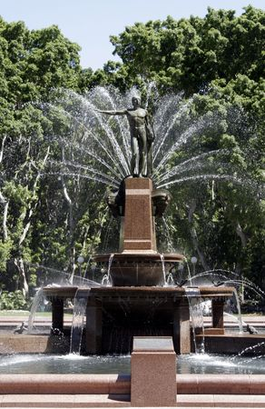 widely: Archibald Fountain, widely regarded as the finest public fountain in Australia, located in Hyde Park, Sydney, New South Wales, Australia