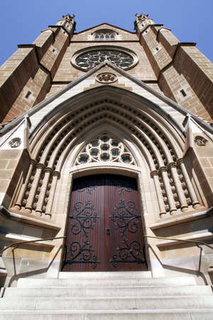 St Mary's Cathedral Entrance Door - Seat of the Roman Catholic Archbishop of Sydney, Australia Stock Photo - 2005677