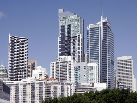 living unit: Tall Urban City Building, Cityscape In Sydney, Australia