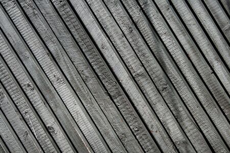 Grey Wood Fence With Diagonal Pattern - Background, Wallpaper Stock Photo - 2025004
