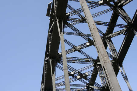 steel bridge: Part Of The Sydney Harbour Bridge Steel Construction, Australia Stock Photo