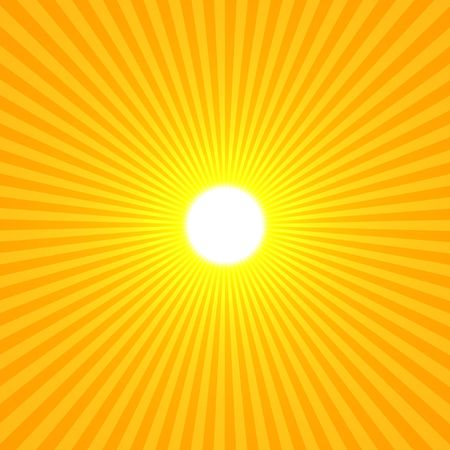 Yellow Sun Abstract, Rays Shine From A Bright Center, Illustration Background
