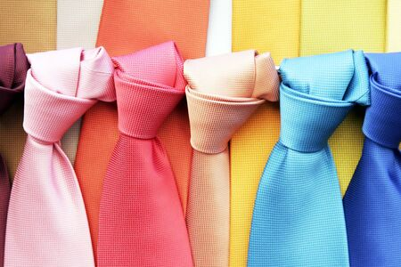 Many Colourful Ties In A Row, Clothing Accessory