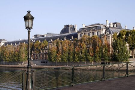 Paris Street Lamp, Seine River Bank, Clear Sunny Day Stock Photo - 2407145