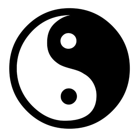 Dual Concepts Of Yin And Yang Describes Two Primal Opposing But Complementary Cosmic Forces Stock Photo - 2459792