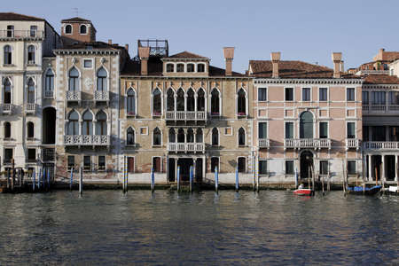 Venice, Italy - Typical Old Building Water Front Facade And Canal Stock Photo - 2459816