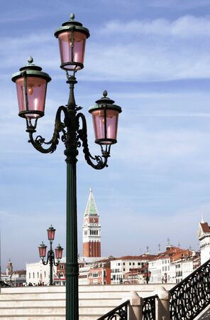 Traditional Street Light In Venice In Front Of Old Buildings, Iraly Stock Photo - 2480401