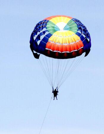 parapente: Colourful Parachute, Parasailing, Paragliding