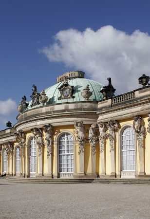 Sanssouci, former summer palace of Frederick the Great, King of Prussia at Potsdam, just outside Berlin.