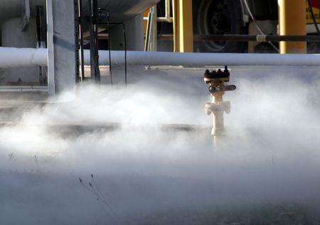 lekken: Chemische Spill - Gas Cloud Op grond van een industrieel bedrijf
