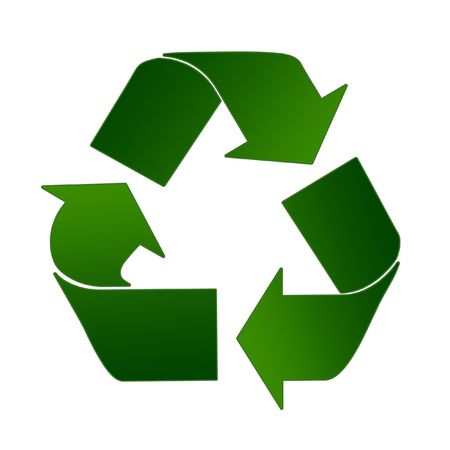 Recycling Sign In Light And Dark Green On A White Background Stock Photo - 2517314