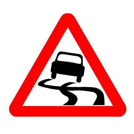 skidding: Traffic Sign - Warning, Car Out Of Control