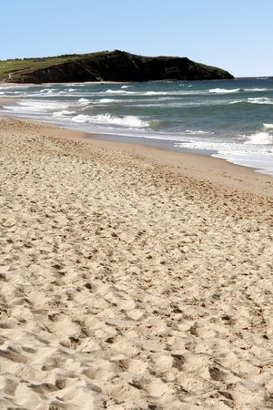 serenety: Empty Sand Beach In Front Of Long Reef, Pacific Ocean, Sydney, Australia